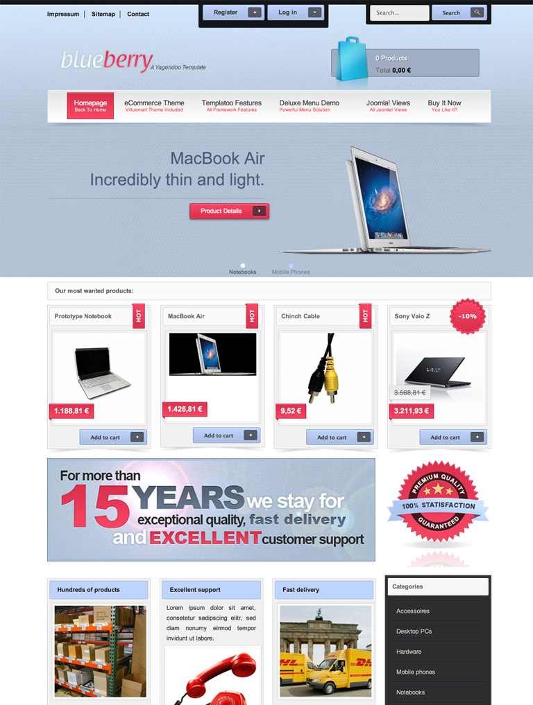 Blueberry - Joomla! Template