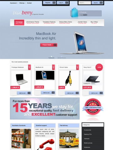 Blueberry – Joomla! Template