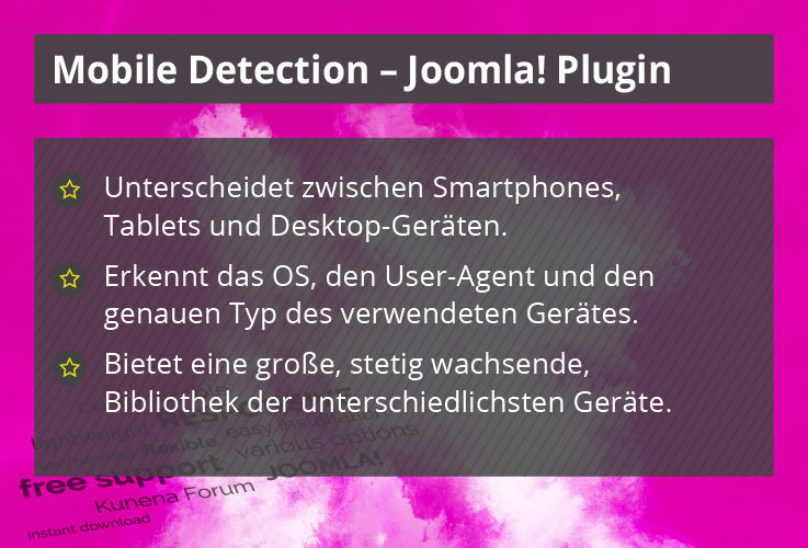 Mobile Detection - Joomla! Plugin