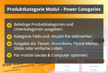 Power Categories – Joomla! Modul