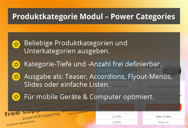 Power Categories – Joomla! Modul