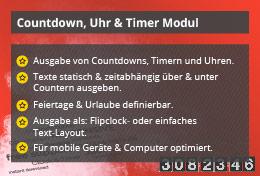 Power Countdown, Uhr & Timer – Joomla! Modul