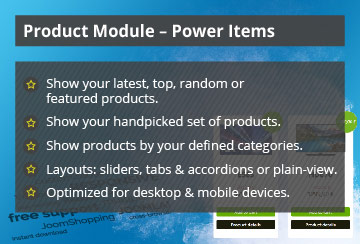 Power Items –  Joomla! Module