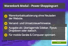 Power Shopping Cart – Joomla! Modul