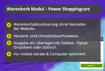 Power Shopping Cart – Joomla! Modul