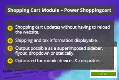Power Shopping Cart - Joomla! Module