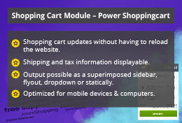 Power Shopping Cart - Joomla! Module