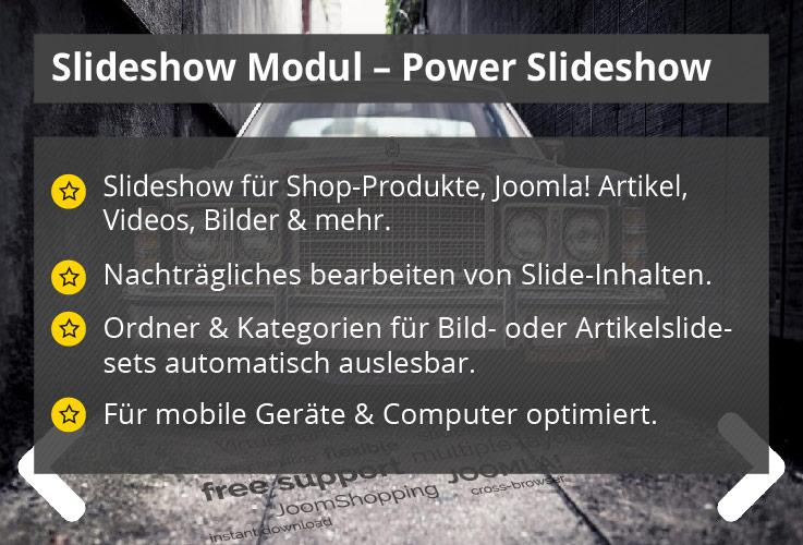 Power Slideshow – Joomla! Modul