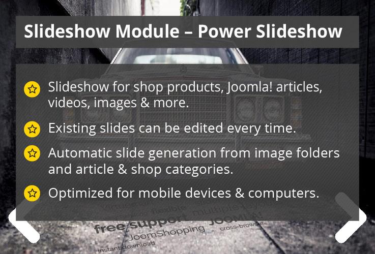 Power Slideshow - Joomla! Module