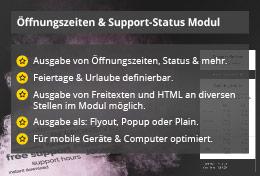 Power Support & Business Hours – Joomla! Modul