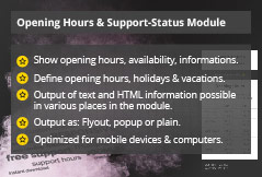 Power Support & Business Hours - Joomla! Module