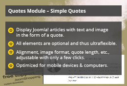 Simple Quotes - Joomla! Module