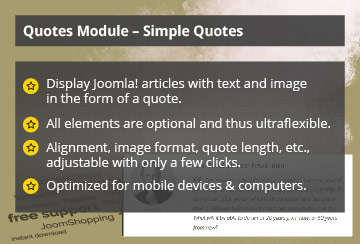 Simple Quotes – Joomla! Module