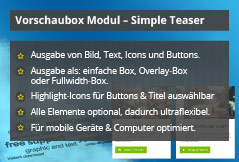 Simple Teaser – Joomla! Modul