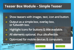 Simple Teaser - Joomla! Module
