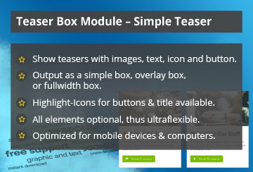 Simple Teaser – Joomla! Module