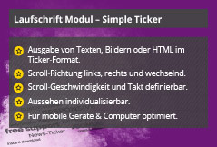 Simple Ticker – Joomla! Modul