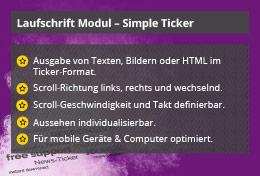 Simple Ticker – Joomla! Modul