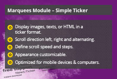Simple Ticker - Joomla! Module