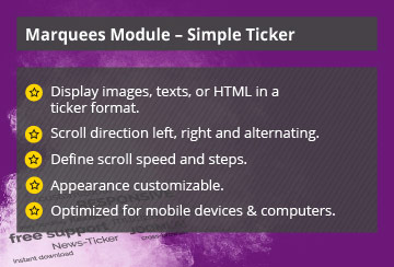Simple Ticker – Joomla! Module