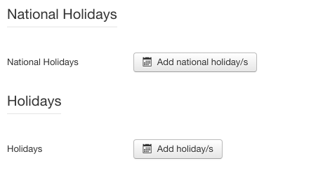 Screenshot: Holiday Settings | Power Countdown, Clock & Timer – Joomla! Module