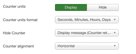 Screenshot: Display Settings | Power Countdown, Clock & Timer – Joomla! Module