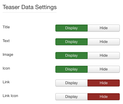 Screenshot: Display Settings | Simple Teaser – Joomla! Module
